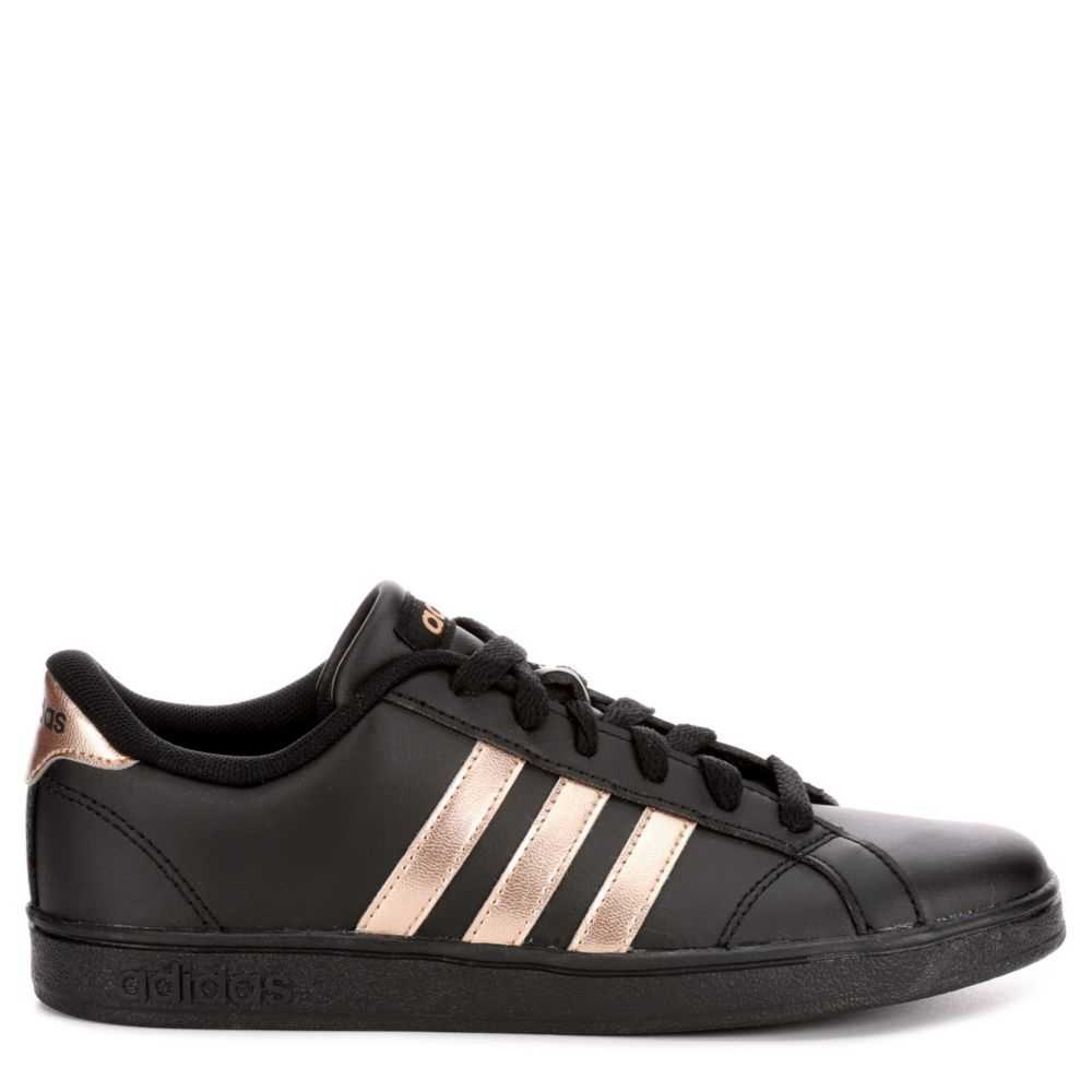 Adidas Girls Baseline Shoes Sneakers Black USA - GOOFASH - Womens SNEAKER