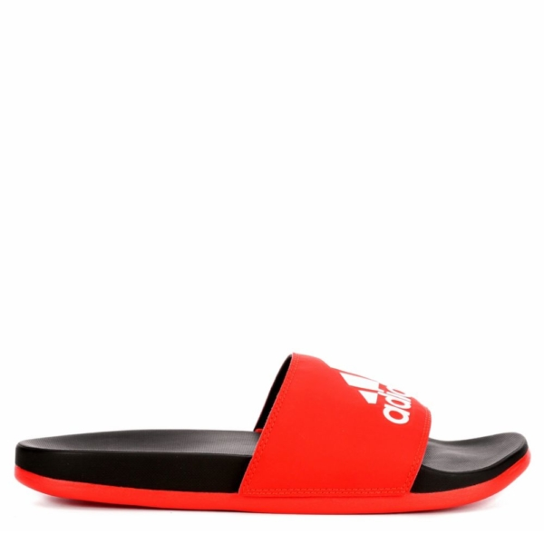 Adidas Mens Adilette Slide Sandal Red USA - GOOFASH - Mens SANDALS