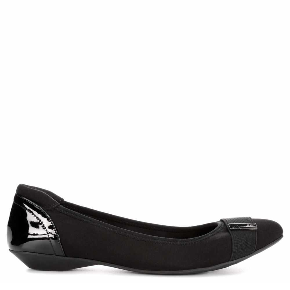 Anne Klein Womens Ophie Flats Shoes Black USA - GOOFASH - Womens FLAT SHOES