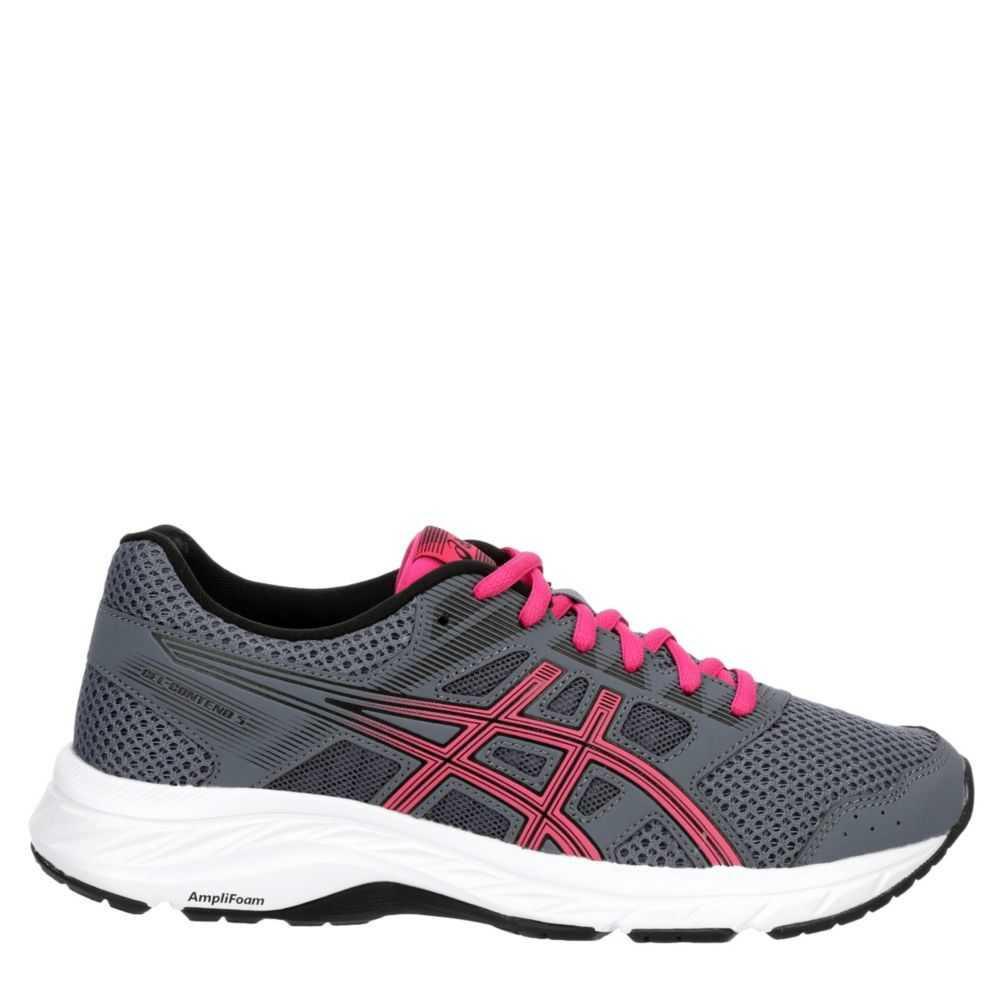 Asics Womens Contend 5 Running Shoes Sneakers Grey USA - GOOFASH - Womens SNEAKER