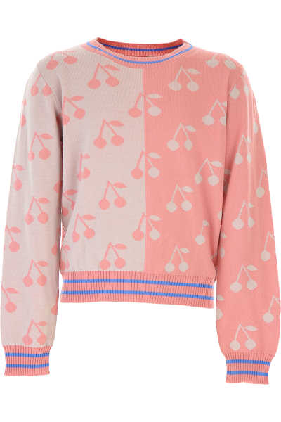 Bonpoint Kids Sweaters for Girls Pink SE - GOOFASH