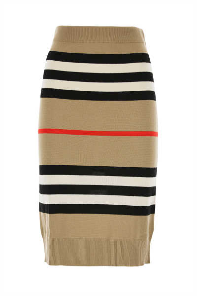 Burberry Skirt for Women Beige - GOOFASH