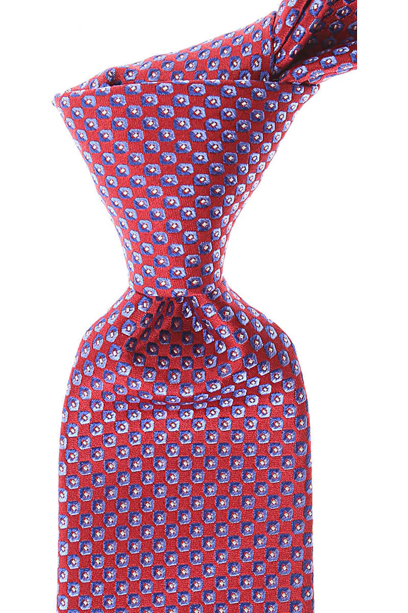 Canali Ties On Sale Red - GOOFASH