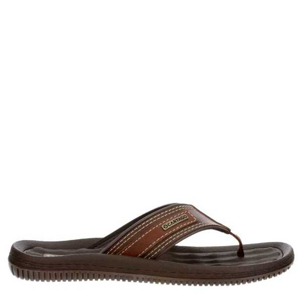 Cartago Mens Dunas II C Flip Flop Sandal Brown USA - GOOFASH - Mens SANDALS