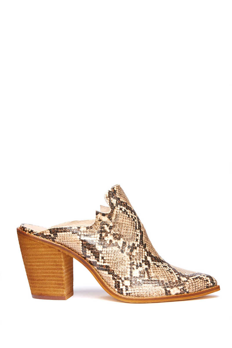 Chinese Laundry Songstress Snake Mule Brown Multi 9 USA - GOOFASH