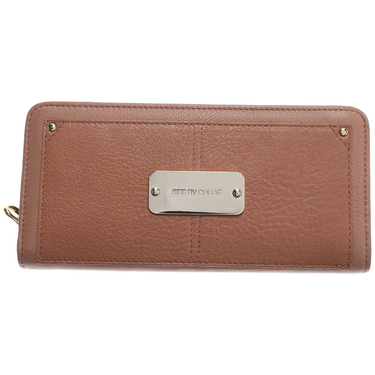Chloe Wallet for Women On Sale Natural - GOOFASH