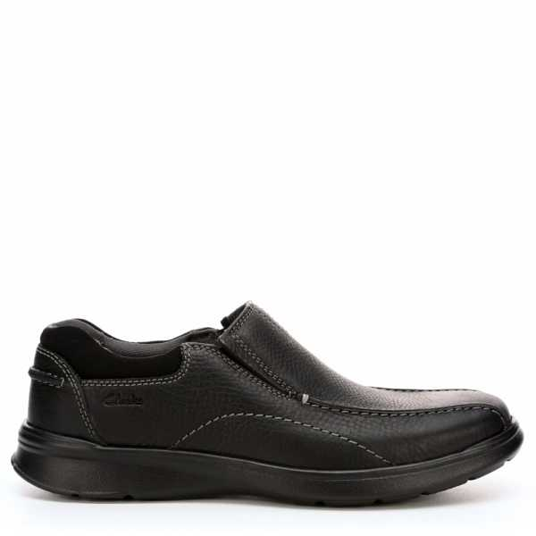 Clarks Mens Cotrell Step Casual Loafer Loafers Black USA - GOOFASH - Mens LOAFERS