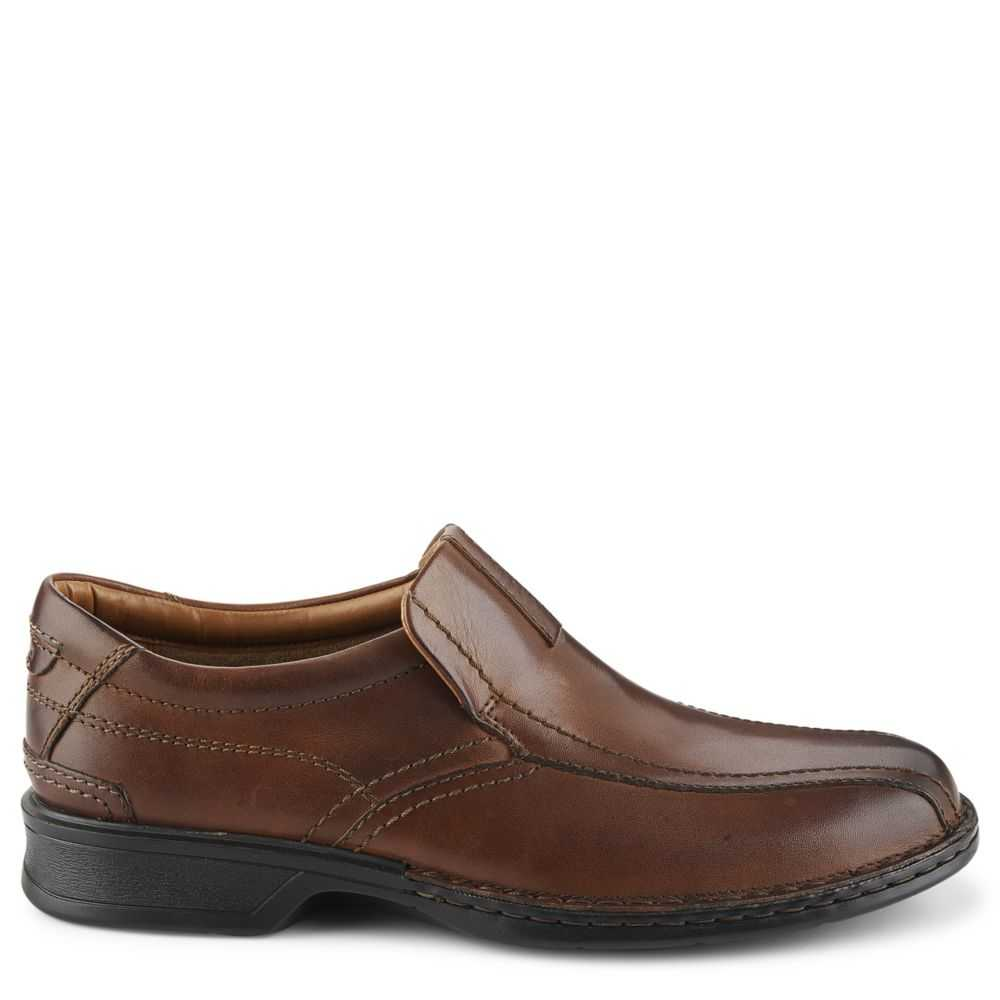 Clarks Mens Escalade Step Casual Loafer Loafers Brown USA - GOOFASH - Mens LOAFERS