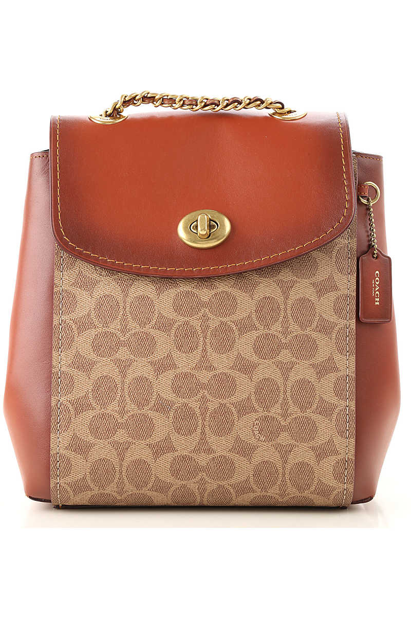 Coach Backpack for Women On Sale Tan - GOOFASH