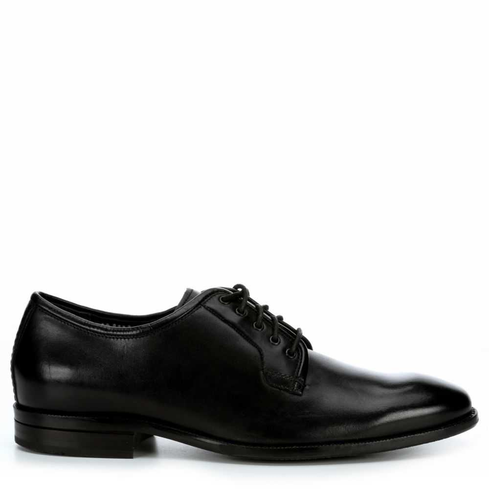 Cole Haan Mens Warner Grand Po Oxfords Black USA - GOOFASH - Mens LEATHERS SHOES