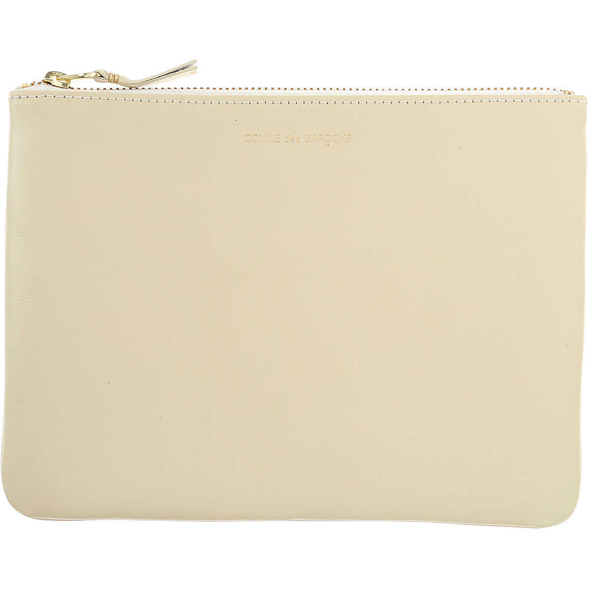 Comme des Garcons Wallet for Women On Sale Dirty White - GOOFASH