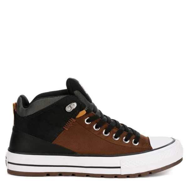 Converse Mens Chuck Taylor All-Star Street Boot Shoes Sneakers Brown USA - GOOFASH - Mens BOOTS
