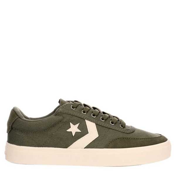 Converse Mens Courtlandt Shoes Sneakers Olive USA - GOOFASH - Mens SNEAKER