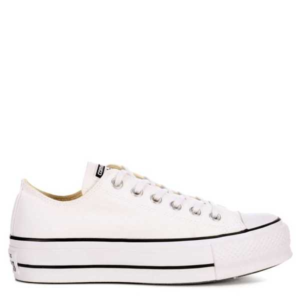 Converse Womens Chuck Taylor All-Star Low-Top Lift Shoes Sneakers White USA - GOOFASH - Womens SNEAKER