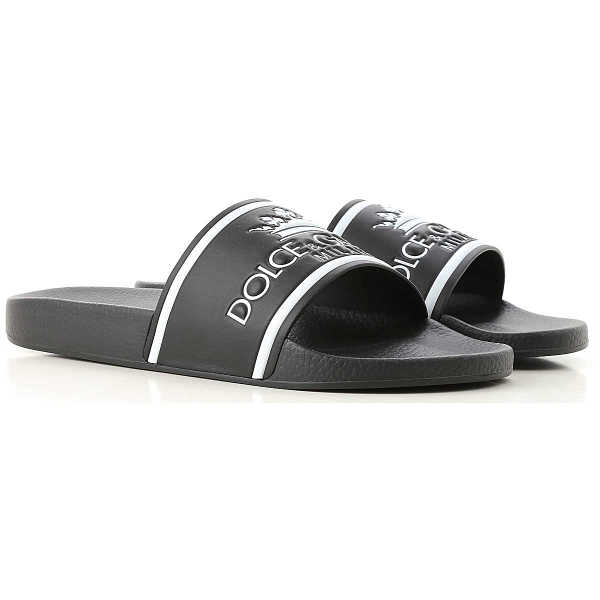 Dolce & Gabbana Sandals for Men On Sale Black UK - GOOFASH