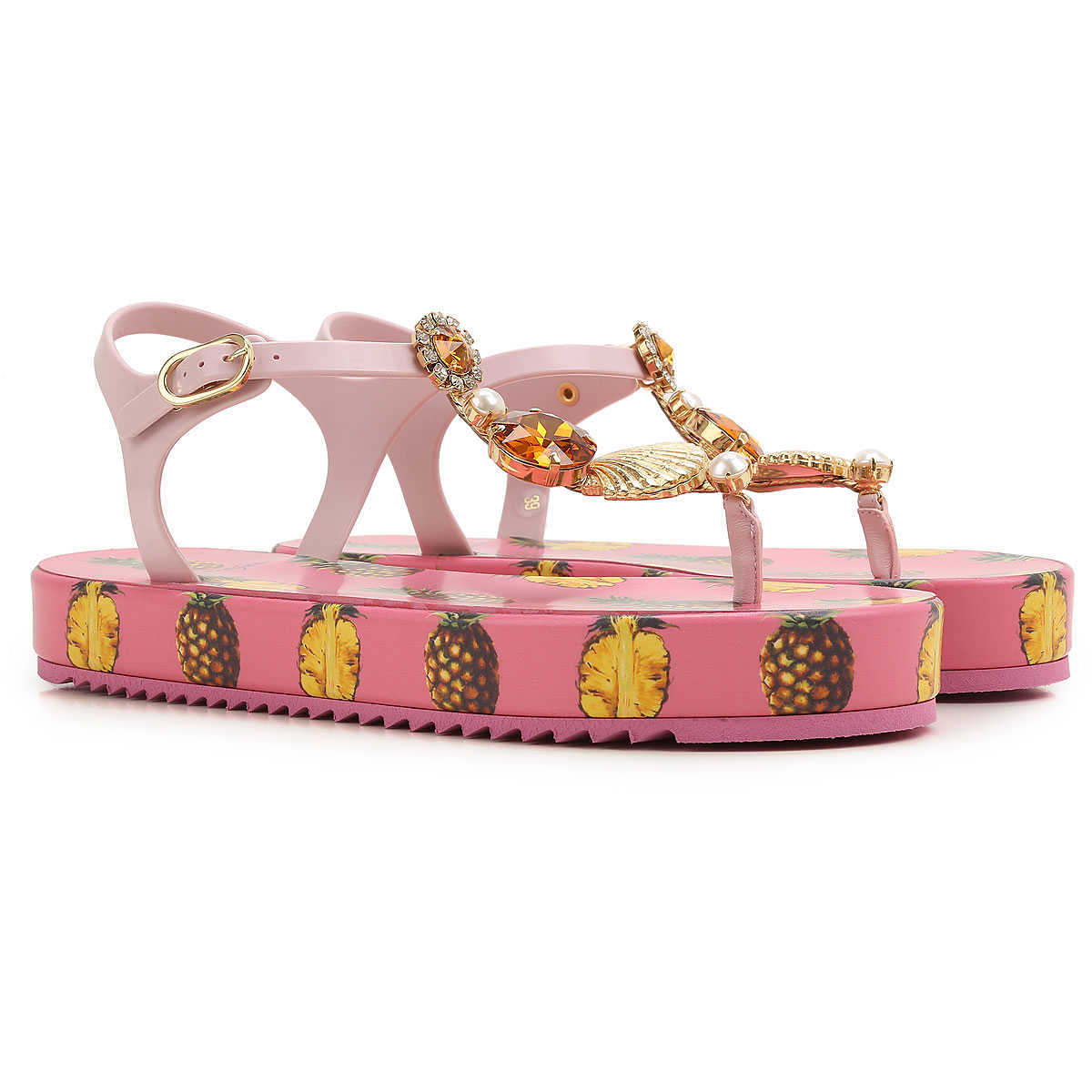 Dolce & Gabbana Sandals for Women On Sale in Outlet Ananas - GOOFASH