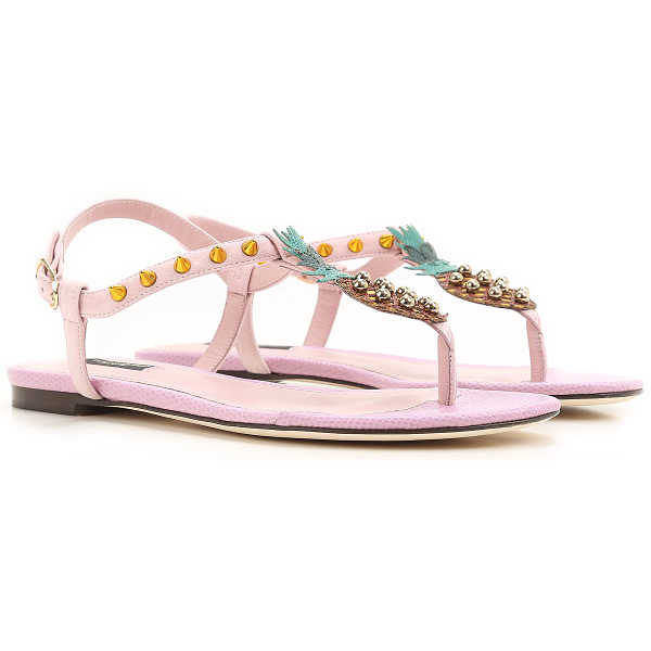 Dolce & Gabbana Sandals for Women On Sale in Outlet Pink UK - GOOFASH