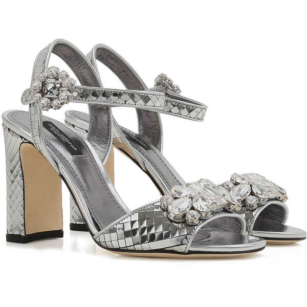 Dolce & Gabbana Sandals for Women On Sale in Outlet Silver - GOOFASH