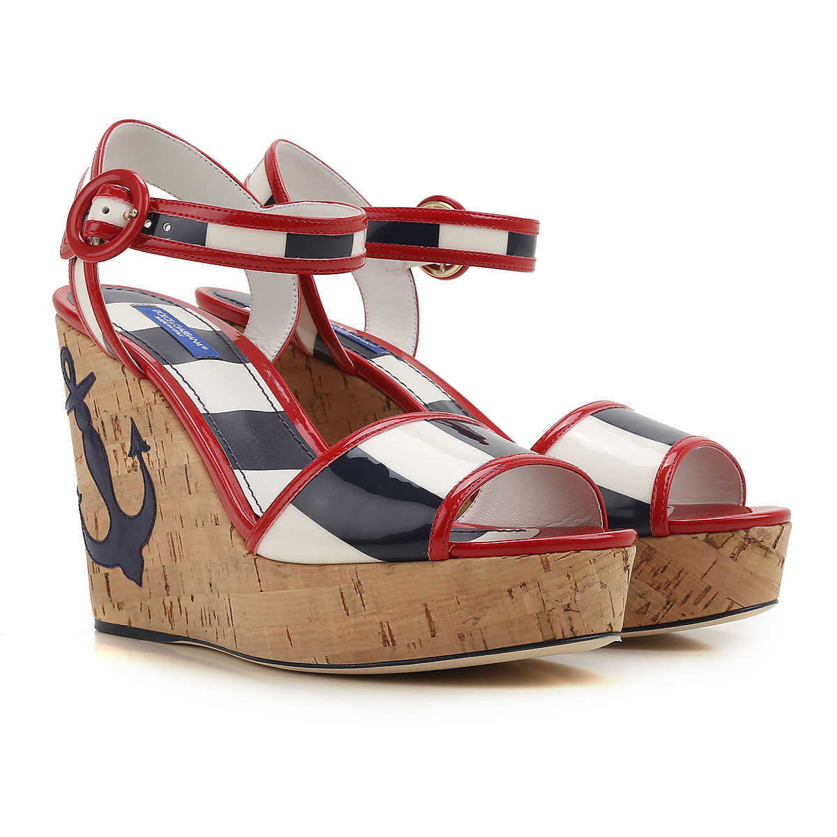Dolce & Gabbana Wedges for Women On Sale in Outlet Red - GOOFASH