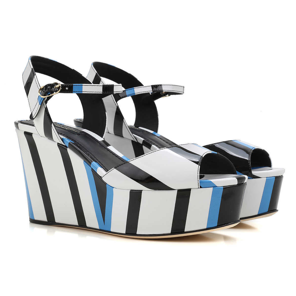 Dolce & Gabbana Wedges for Women On Sale in Outlet White - GOOFASH