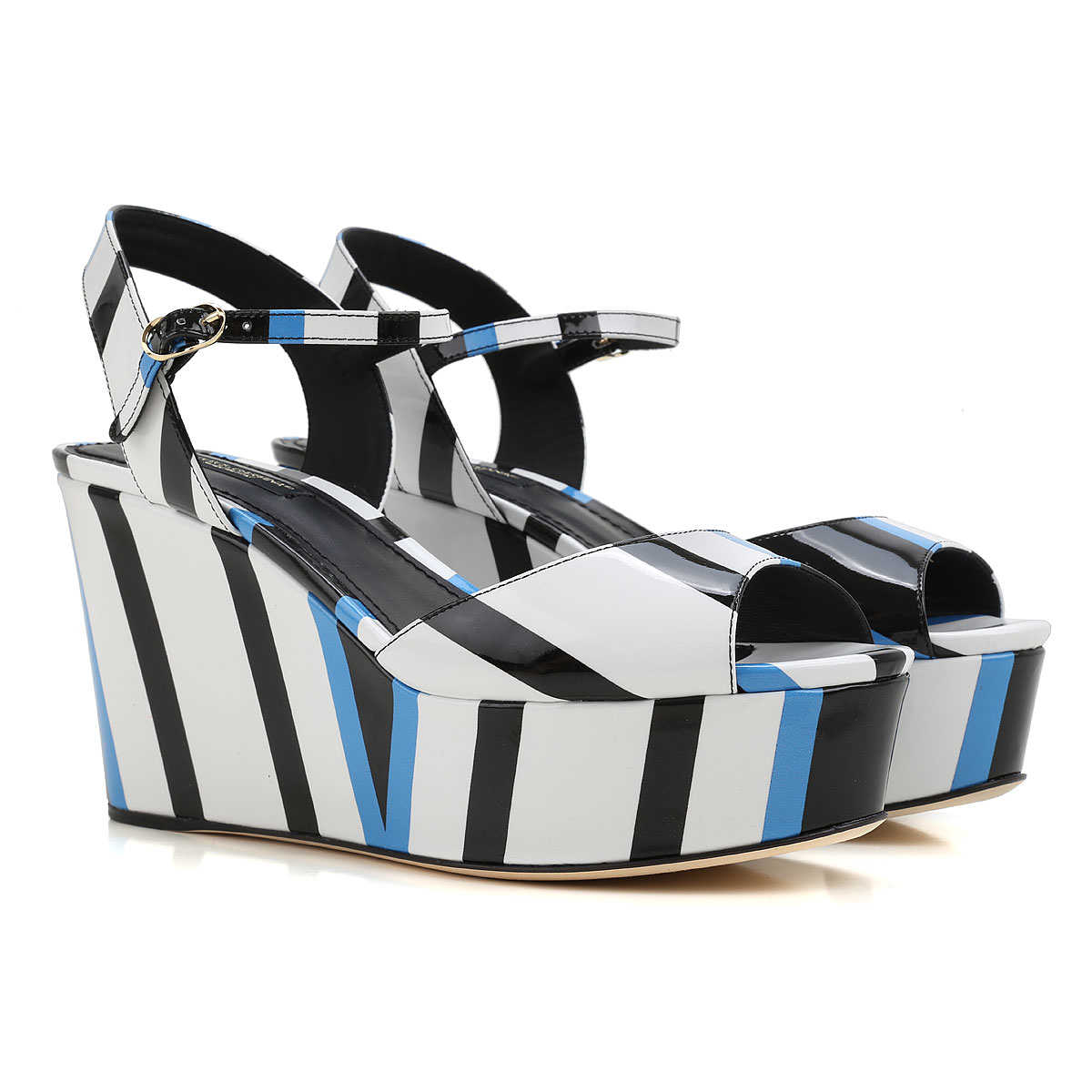 Dolce & Gabbana Wedges for Women On Sale in Outlet White UK - GOOFASH