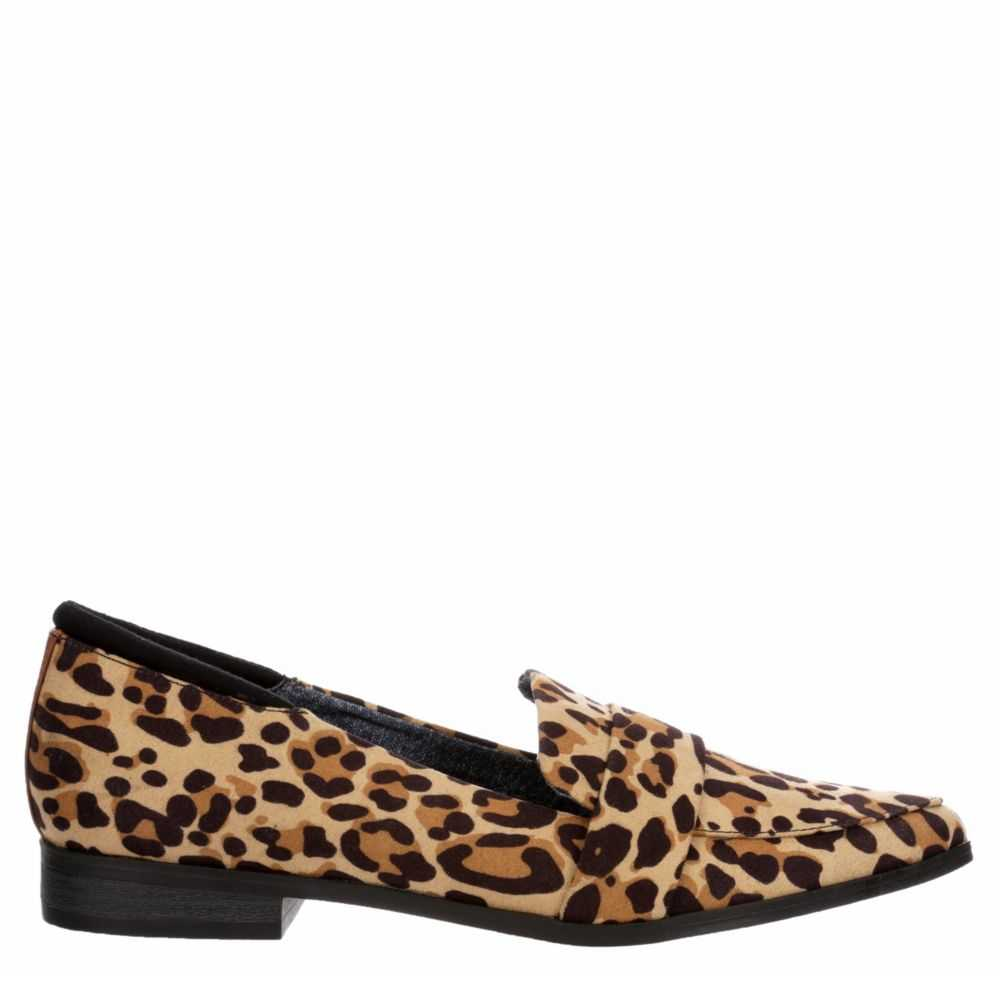 Dr. Scholl's Womens Leo Loafers Leopard USA - GOOFASH - Womens FLAT SHOES