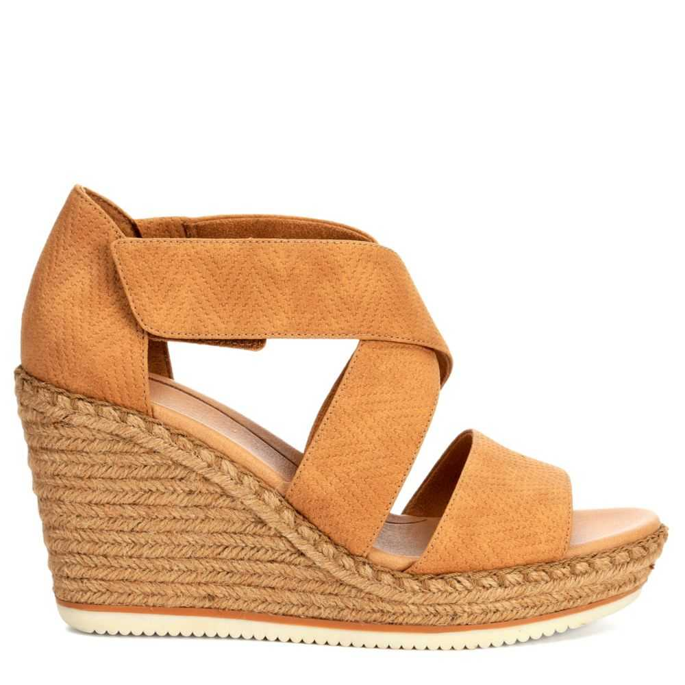 Dr. Scholl's Womens Vacay Wedge Nude USA - GOOFASH - Womens HOUSE SHOES