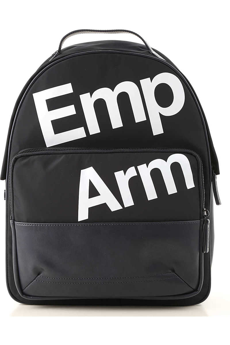Emporio Armani Backpack for Men On Sale navy - GOOFASH