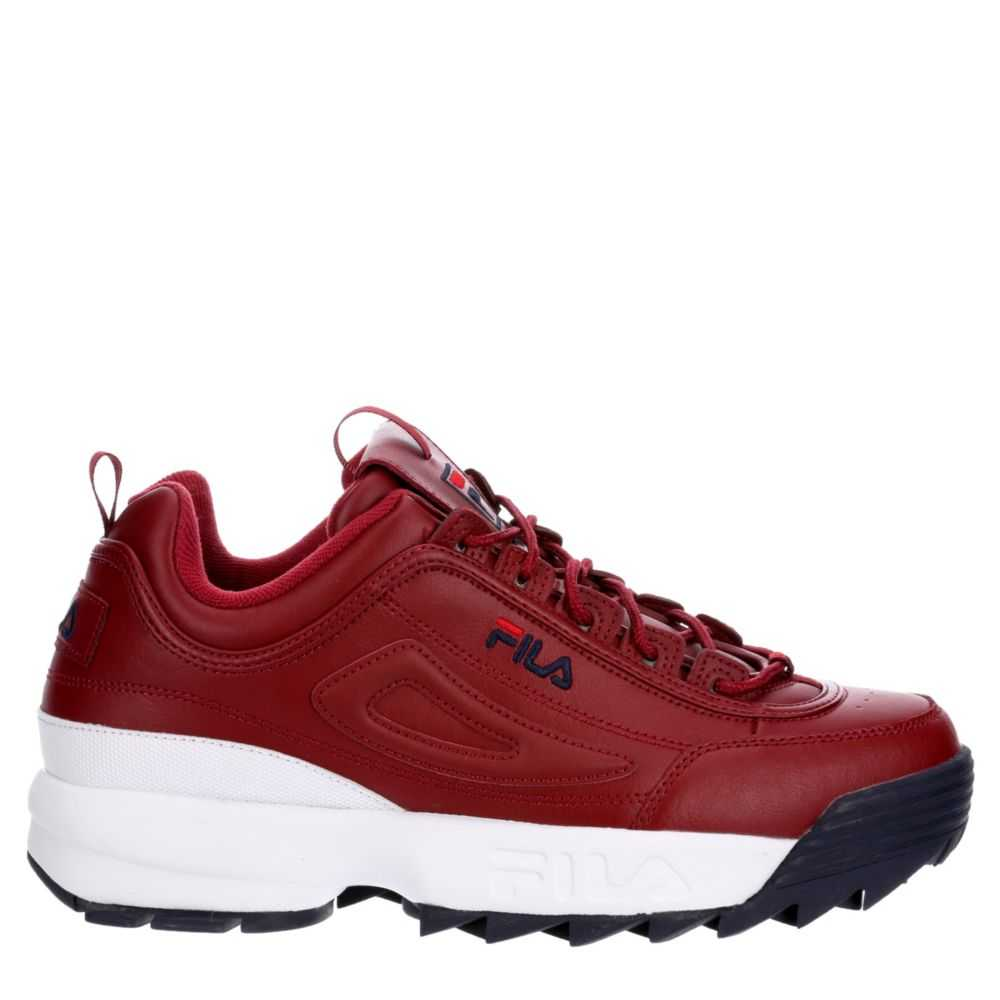 Fila Mens Disruptor II Shoes Sneakers Red USA - GOOFASH - Mens SNEAKER