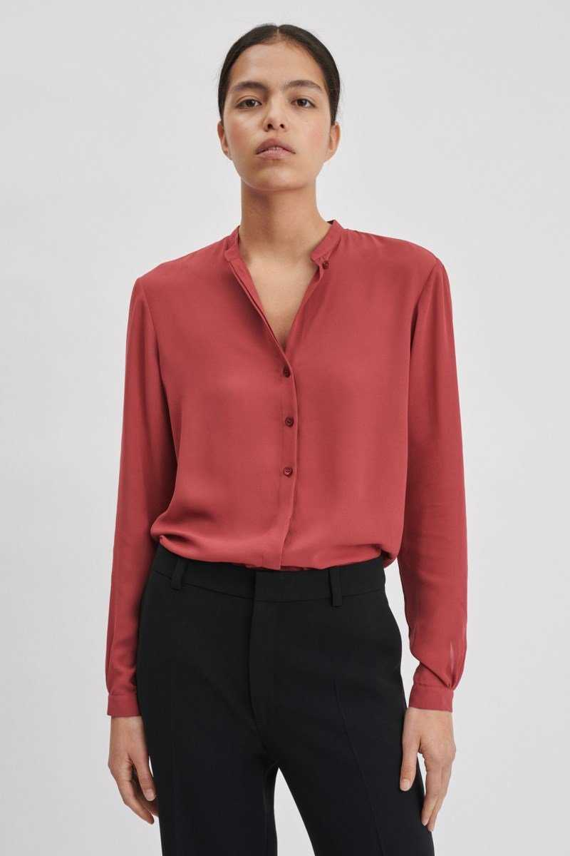 Filippa K Adele Blouse Raspberry NO - GOOFASH