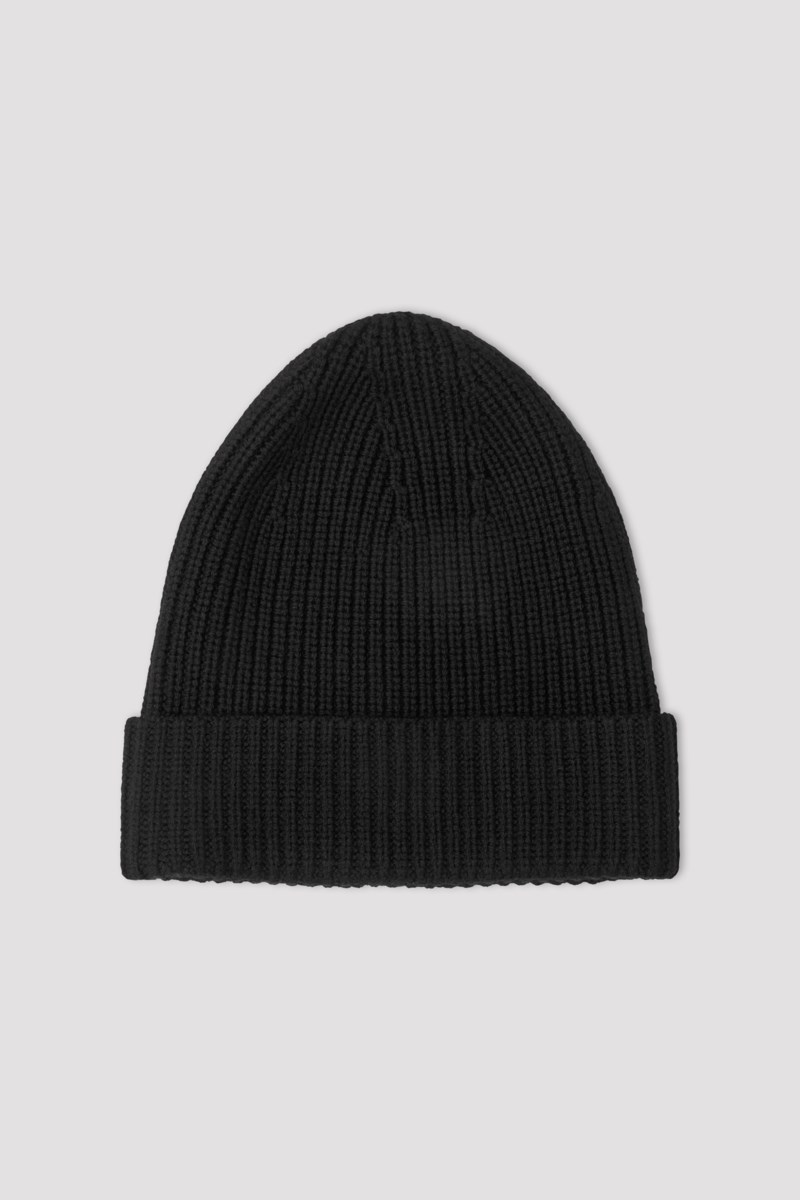 Filippa K Rib Hat Black NO - GOOFASH