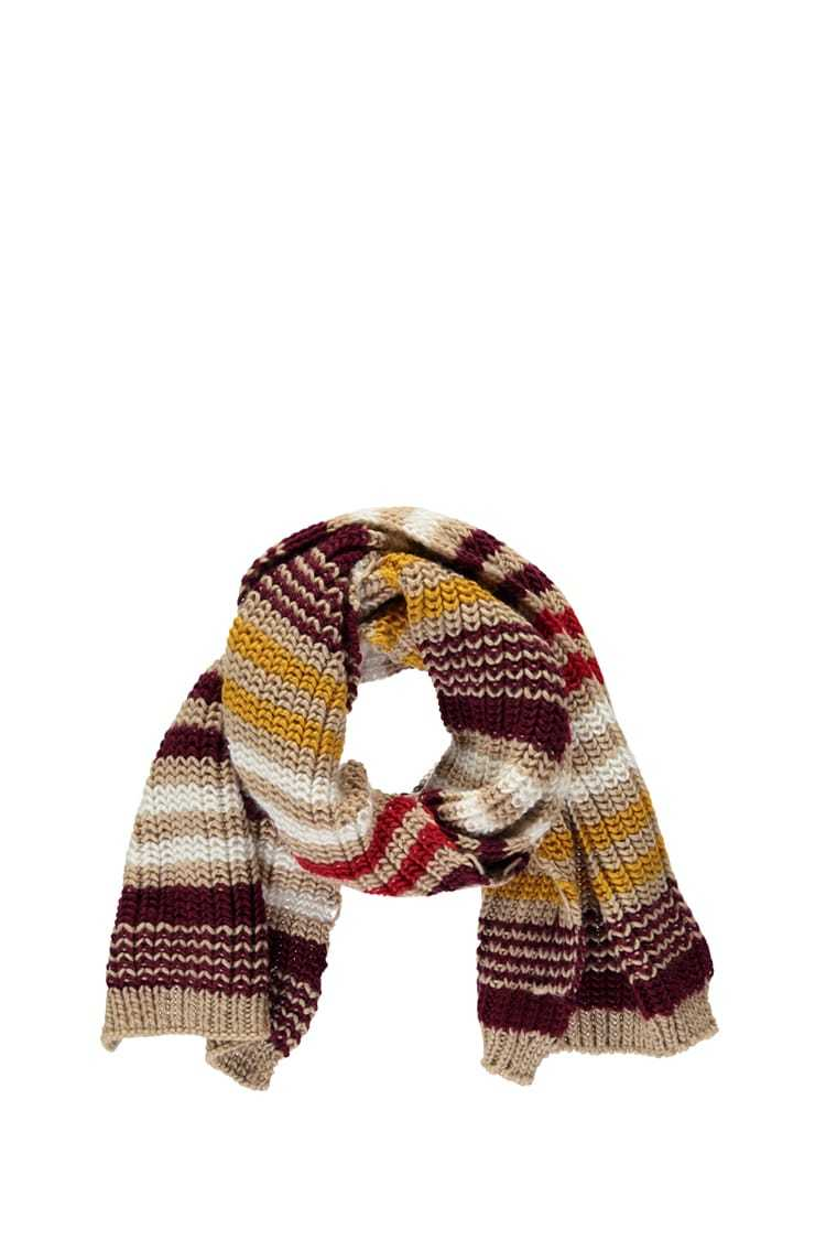 Forever21Chunky Ribbed Striped Scarf - Taupe/Multi UK - GOOFASH