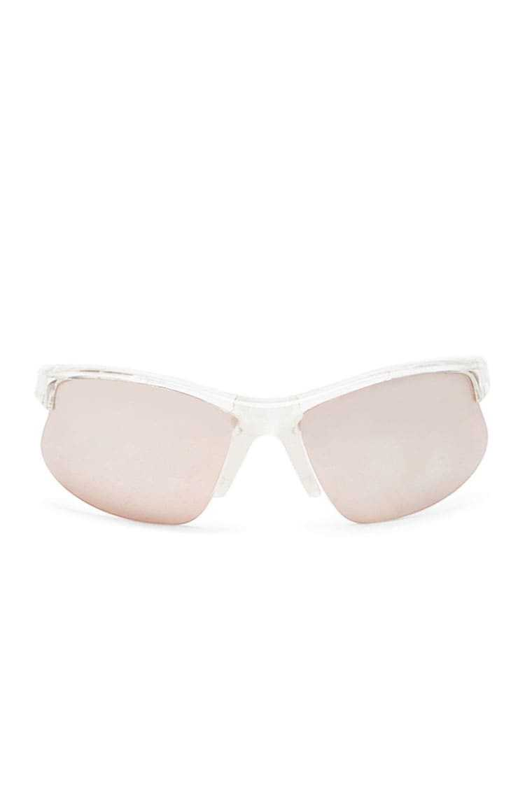 Forever21Clear Shield Sunglasses - Clear/Rose UK - GOOFASH