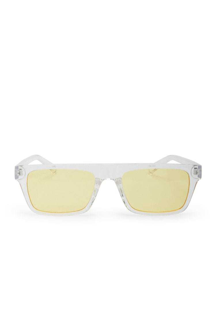 Forever21Clear Tinted Sunglasses - Clear/Yellow UK - GOOFASH