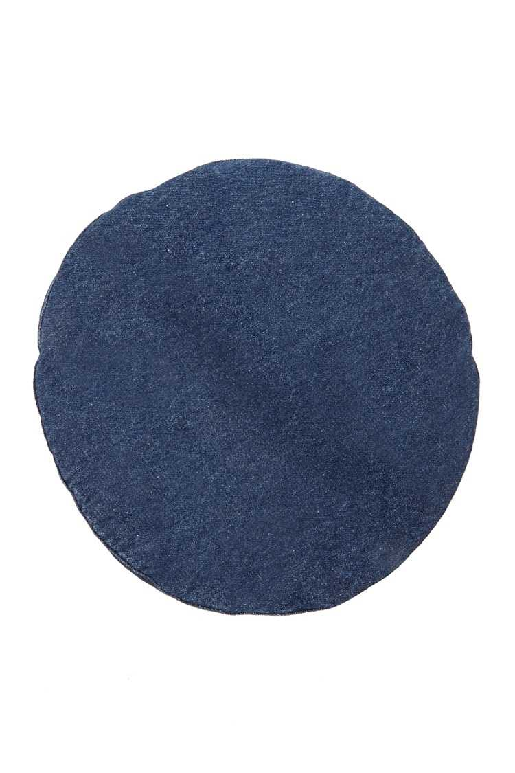 Forever21Cotton-Blend Denim Beret Hat - Blue UK - GOOFASH
