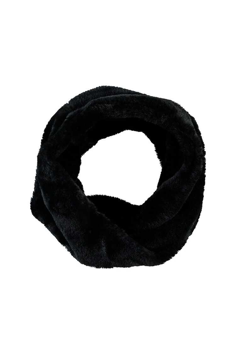 Forever21Faux Fur Twisted Infinity Scarf - Black UK - GOOFASH