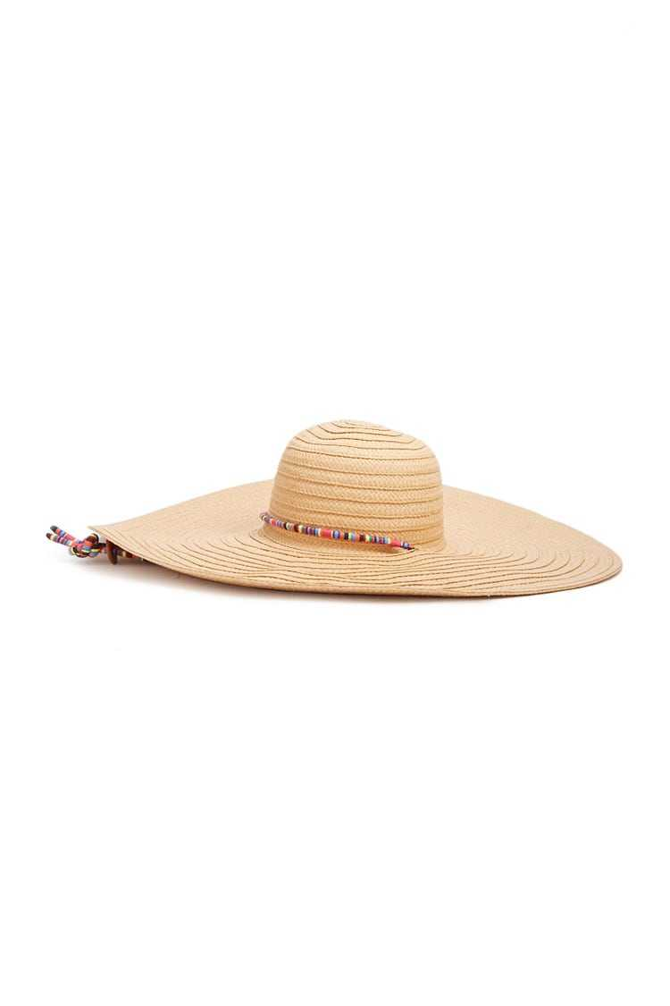 Forever21Floppy Straw Hat - Natural/Multi UK - GOOFASH