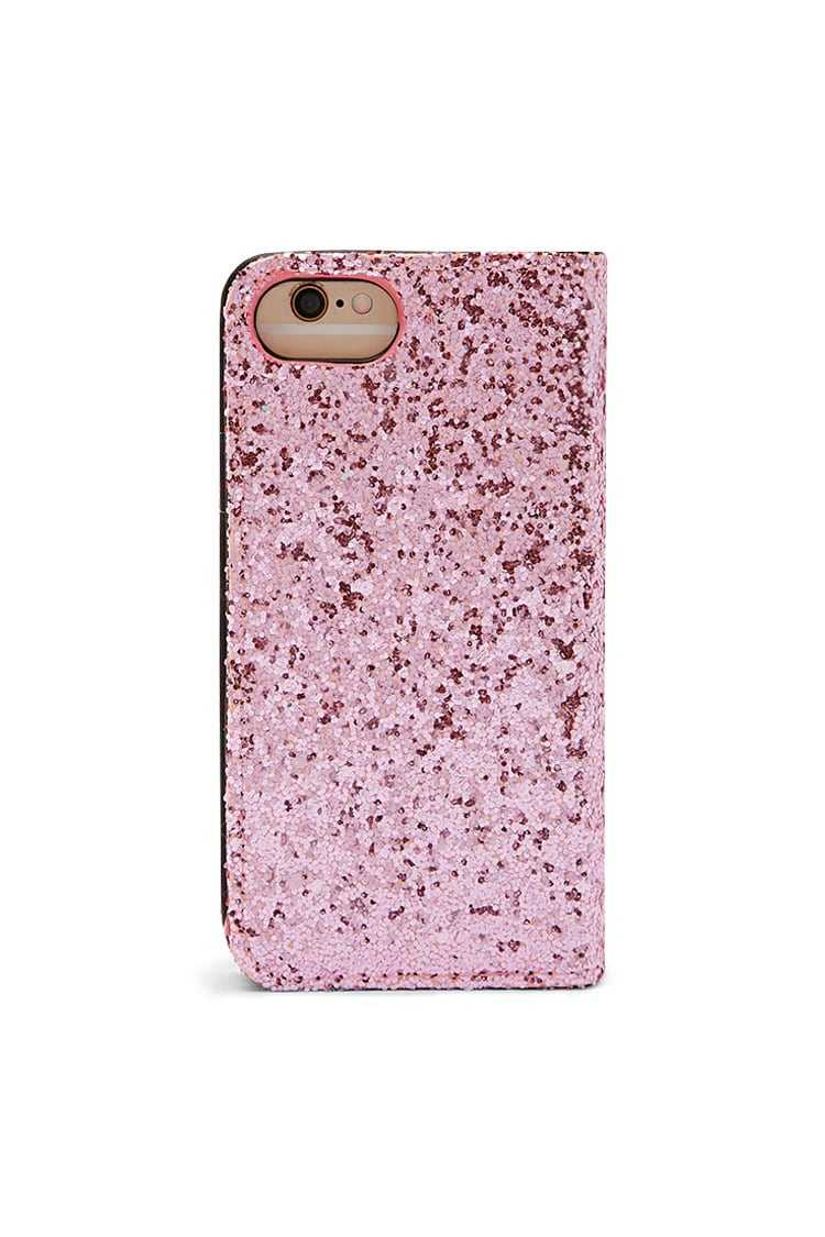 Forever21Glitter Wallet Case For iPhone 6/6S - Pink UK - GOOFASH