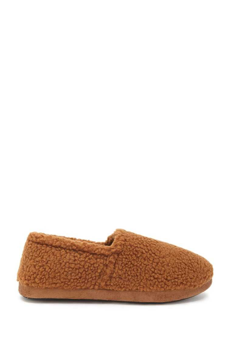 Forever21Men Faux Shearling Slippers - Brown UK - GOOFASH