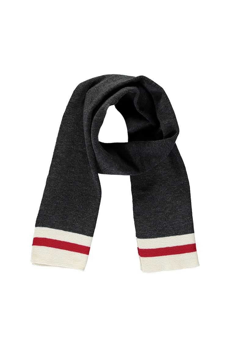 Forever21Men Varsity Striped Scarf - Grey/Cream UK - GOOFASH