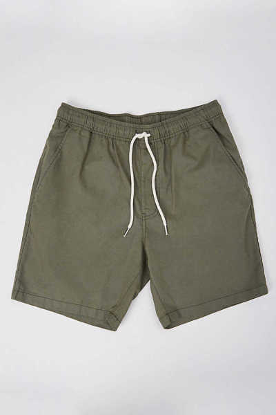 Forever21Men's Linen-Blend Drawstring Shorts - Sage UK - GOOFASH