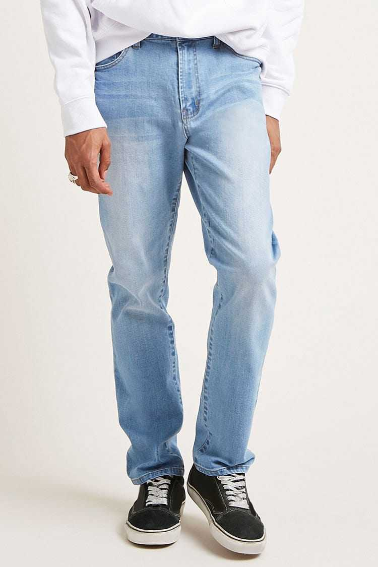 Forever21Men's Relaxed-Fit Jeans - Denim Washed UK - GOOFASH