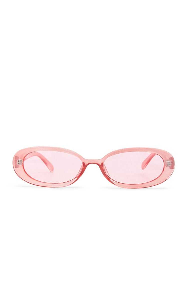 Forever21Oval Tinted Sunglasses - Pink UK - GOOFASH