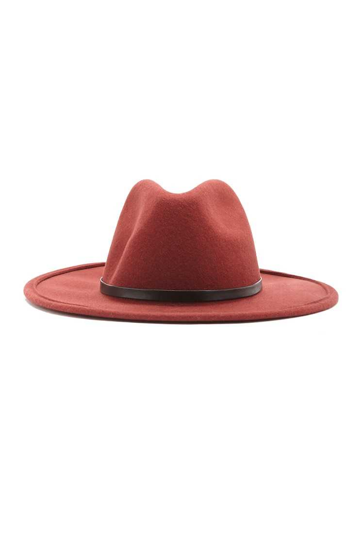 Forever21Pinched Wool Fedora Hat - Rust UK - GOOFASH