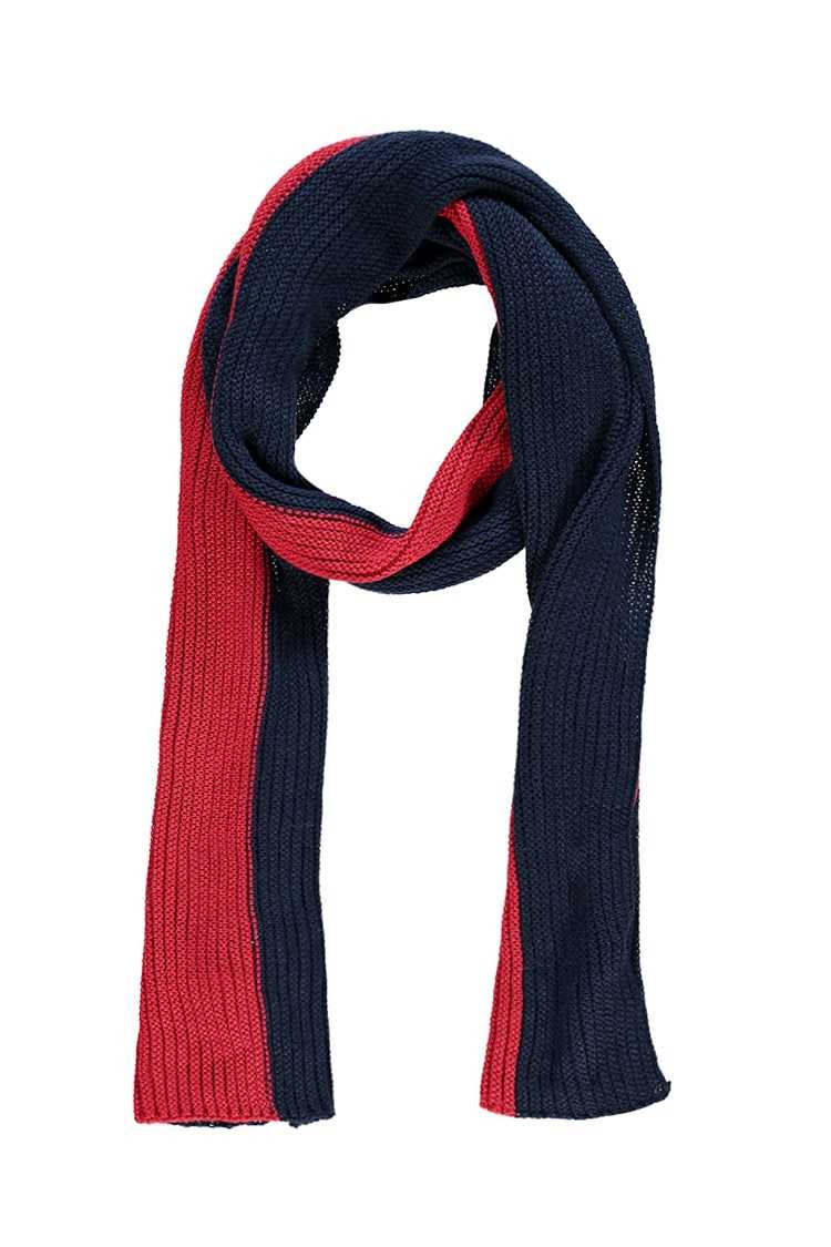 Forever21Ribbed Colorblock Oblong Scarf - Red/Navy UK - GOOFASH
