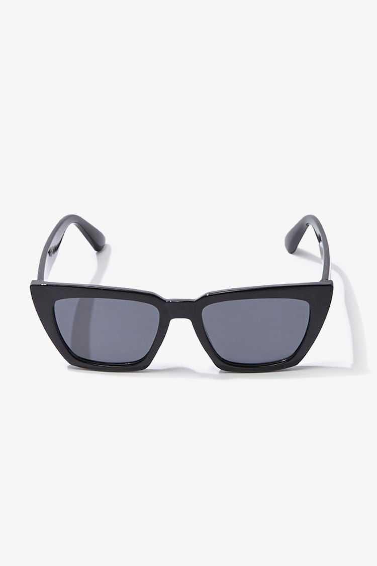 Forever21Square Solid Tinted Sunglasses - Black UK - GOOFASH