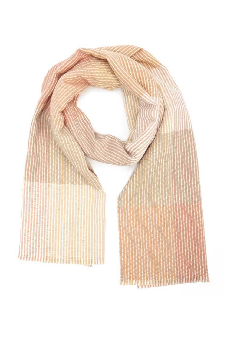 Forever21Striped Colorblock Oblong Scarf - Taupe/Pink UK - GOOFASH