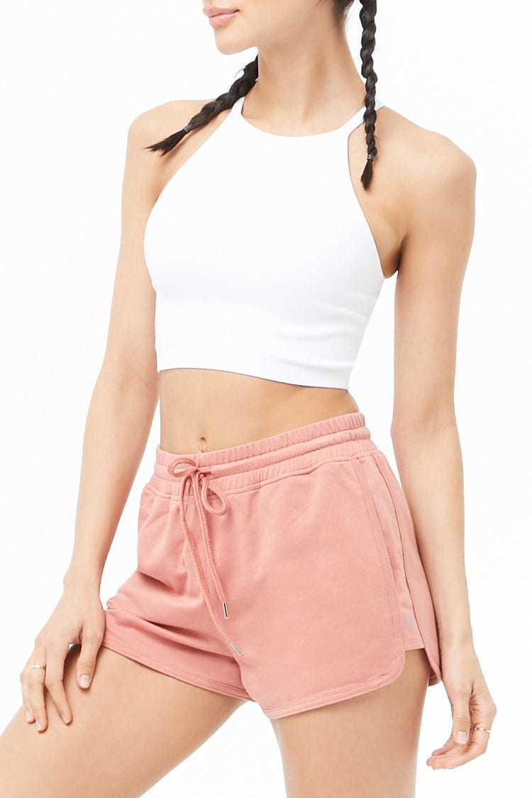 Forever21Women's Active French Terry Dolphin Shorts - Amber UK - GOOFASH