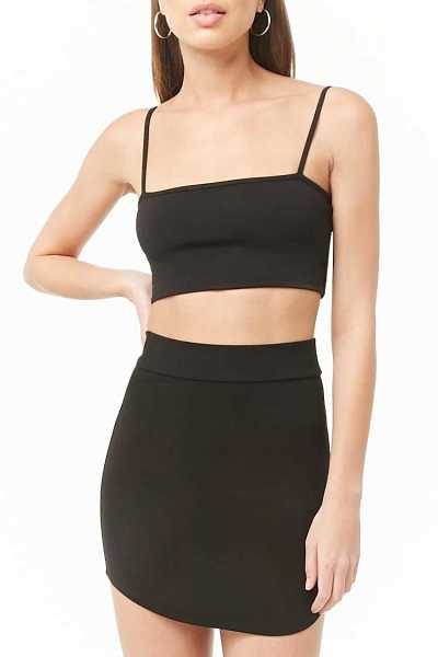 Forever21Women's Bodycon Mini Skirt - Black UK - GOOFASH