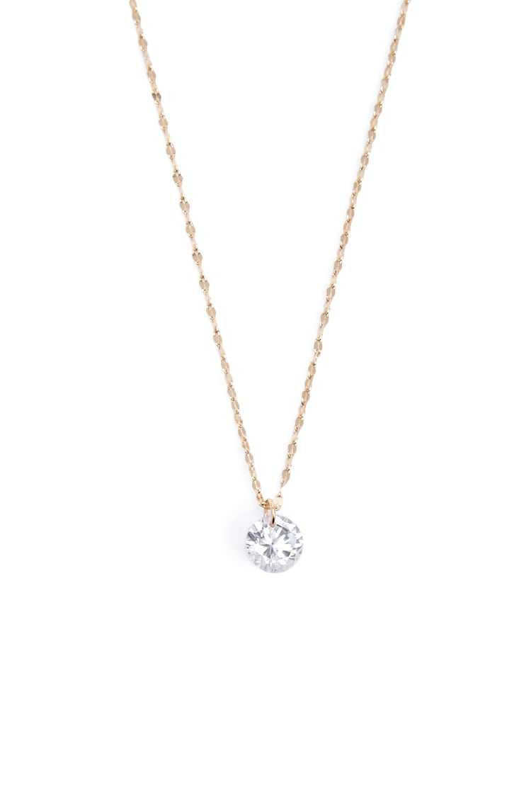 Forever21Women's CZ Double Bar Link Chain Necklace - Gold/Clear UK - GOOFASH